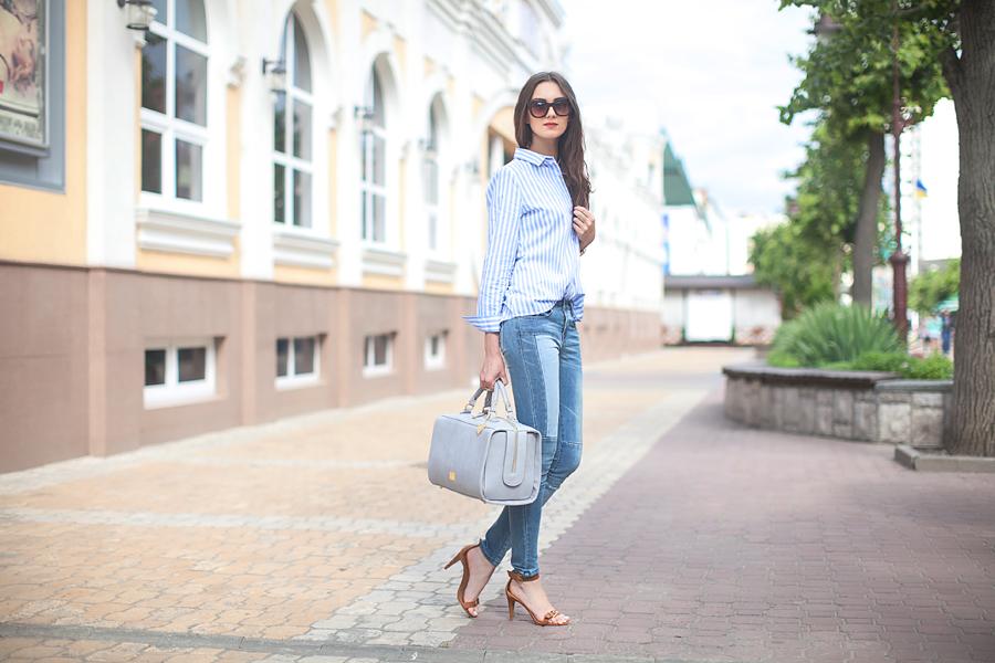 striped_shirt_patchwork_jeans_fashion_blogger_ukraine_nika_huk