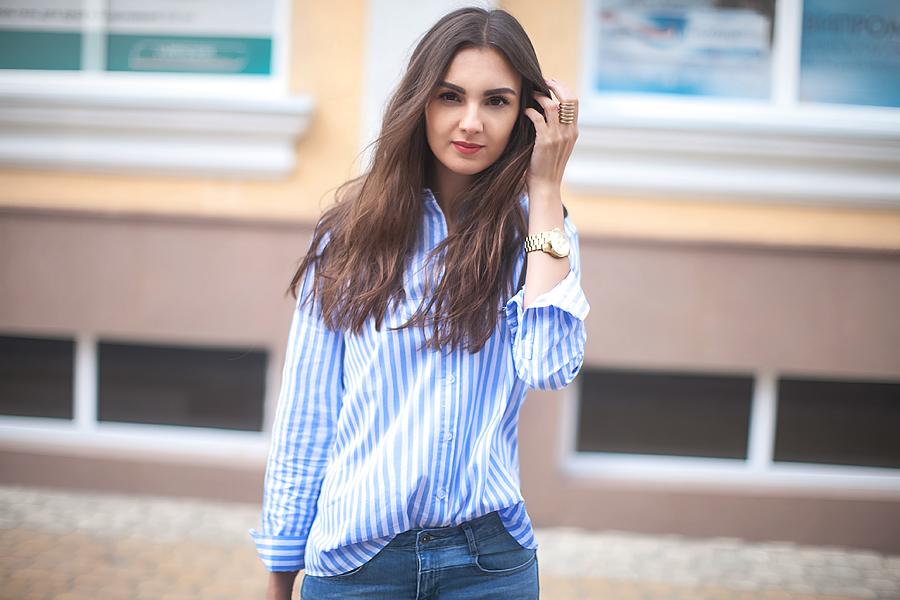 striped_shirt_patchwork_jeans_fashion_blogger_ukraine_nika_huk_style