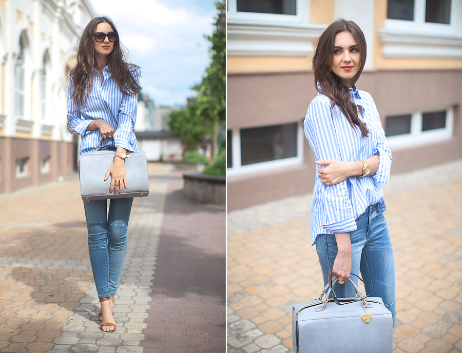 striped_shirt_patchwork_jeans_fashion_blogger_ukraine_nika_huk_street_style