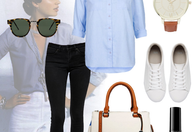 blue-shirt-white-sneakers-black-skinny-jeans-outfit-ideas