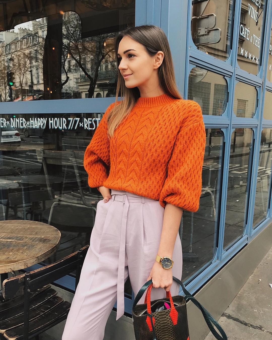 orange-lavender-color-outfit-ideas